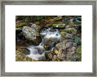 Stream Flowing Through Rocks Framed Print by Panoramic Images