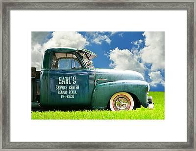Summer Field Pickup Framed Print by Laura Fasulo