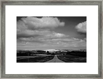 Summer Prairie Landscape Bw Framed Print by Donald  Erickson