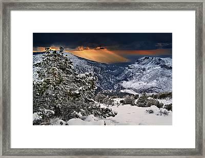 Sun Rays Framed Print by Guido Montanes Castillo