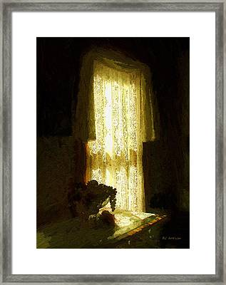 Sunlight Through Lace Framed Print by RC deWinter