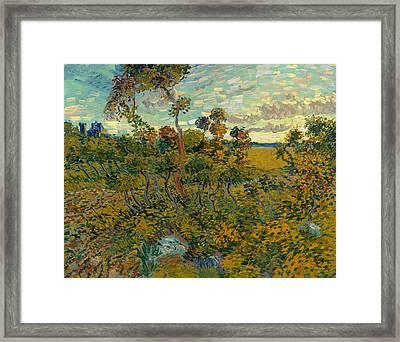 Sunset At Montmajour Framed Print by Vincent van Gogh