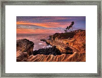 Sunset Cliffs Framed Print by Peter Tellone
