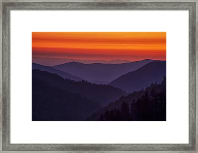 Sunset In The Smokies Framed Print by Andrew Soundarajan