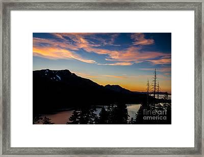 Sunset On Angora Ridge Framed Print by Mitch Shindelbower
