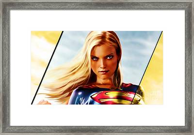 Supergirl Framed Print by Marvin Blaine