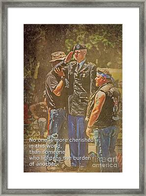 Support Our Troops Framed Print by Tom Gari Gallery-Three-Photography