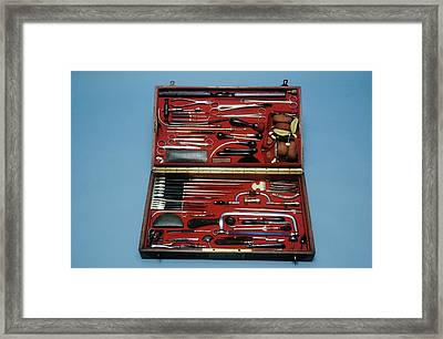Surgeon's Instruments Framed Print by Science Photo Library