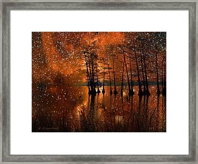 Surrealistic Sunrise Framed Print by J Larry Walker