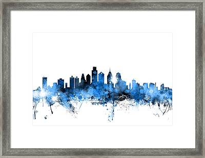 Tampa Florida Skyline Framed Print by Michael Tompsett