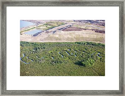 Tar Sands Deposits Being Mined Framed Print by Ashley Cooper