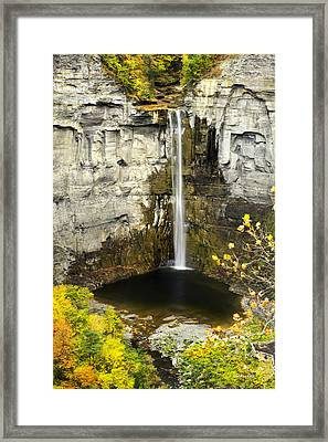 Taughannock Waterfall Framed Print by Christina Rollo