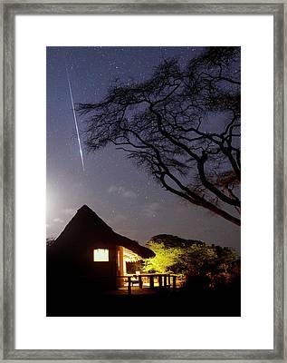 Taurid Meteor Shower Framed Print by Babak Tafreshi
