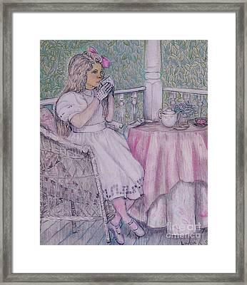 Tea Time For Alexis Framed Print by Linda Simon