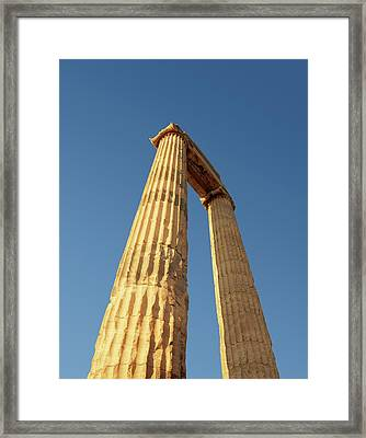 Temple Of Apollo Framed Print by David Parker