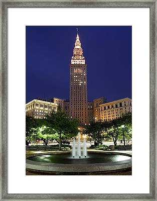 Terminal Tower Part Two Framed Print by Frozen in Time Fine Art Photography