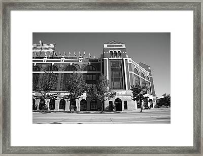 Texas Rangers Ballpark In Arlington Framed Print by Frank Romeo