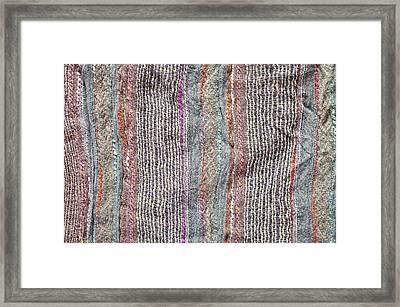 Textile Background Framed Print by Tom Gowanlock