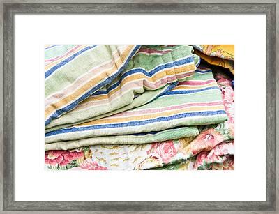 Textiles Sale Framed Print by Tom Gowanlock