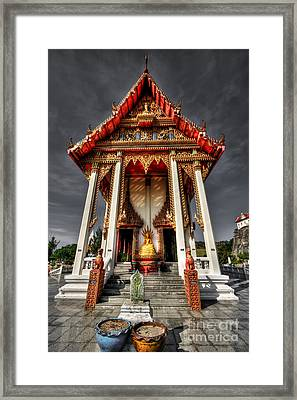Thai Temple Framed Print by Adrian Evans