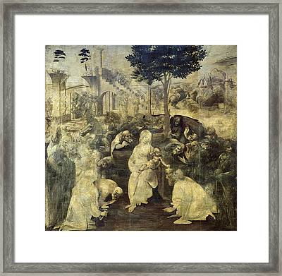 The Adoration Of The Magi Framed Print by Celestial Images