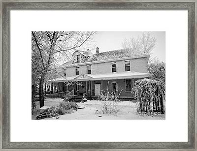 the ananda arthouse in the former st josephs rectory in Forget Saskatchewan Canada Framed Print by Joe Fox