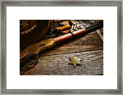 The Badge Framed Print by Olivier Le Queinec