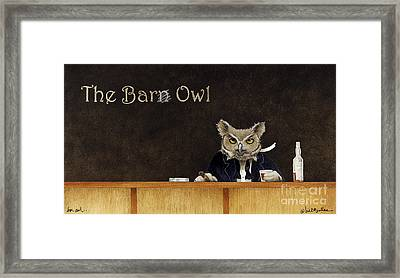 The Bar Owl... Framed Print by Will Bullas