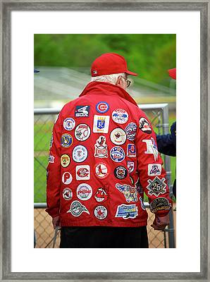 The Baseball Fan Framed Print by Frank Romeo
