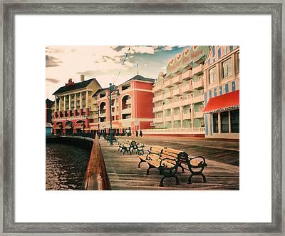 The Boardwalk At Walt Disney World Pa Framed Print by Thomas Woolworth