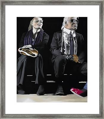 The Catwalk Burger Leftside Framed Print by Marcella Lassen