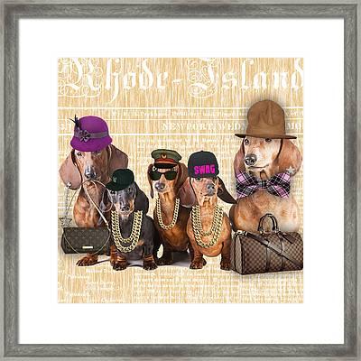 The Dachshund Family Framed Print by Marvin Blaine