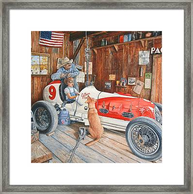 The Driving Lesson Framed Print by Ruben Duran