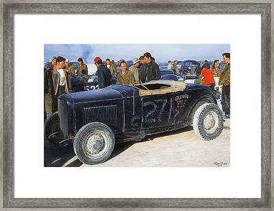 The Frank English Roadster Framed Print by Ruben Duran