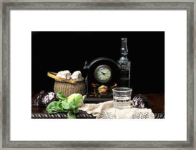 The Garlic Basket Framed Print by Diana Angstadt