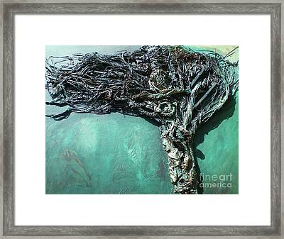 The Greenman Framed Print by Ann Fellows