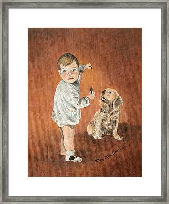 The Guilty Ones Framed Print by Mary Ellen Anderson