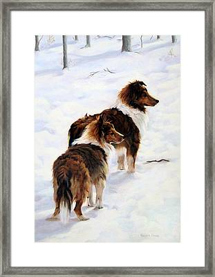 The Little Sentinels Framed Print by Sandra Chase