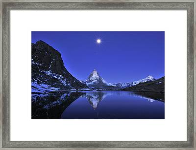 The Matterhorn And Riffelsee Lake Framed Print by Thomas Marent