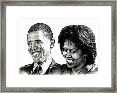 The Obama's Framed Print by Todd Spaur