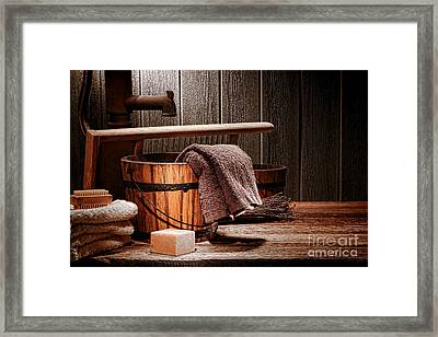 The Old Laundry Framed Print by Olivier Le Queinec