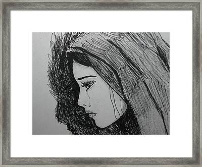 The Pain Of Parting Framed Print by Donatella Muggianu