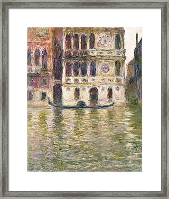 The Palazzo Dario Framed Print by Claude Monet