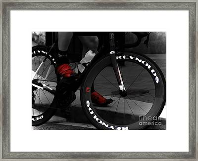 The Power Of Red Framed Print by Steven  Digman