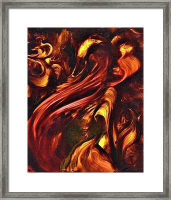 The Red Swan Framed Print by Charles Lucas