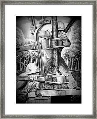 The Roughneck  Framed Print by Shawn Marlow