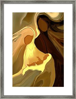 The Saviour Is Born Framed Print by Valerie Anne Kelly