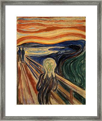 The Scream Framed Print by Celestial Images