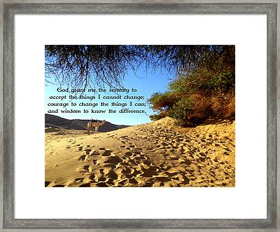 The Serenity Prayer Framed Print by Valentino Wolf