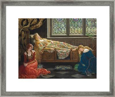 The Sleeping Beauty Framed Print by John Collier